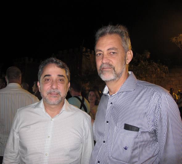 Guilherme Machado e o secretário das Cidades Evandro Avelar