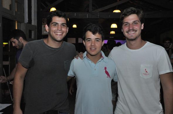 Arthur Arraes, Rodrigo Coutinho e Felipe Leal