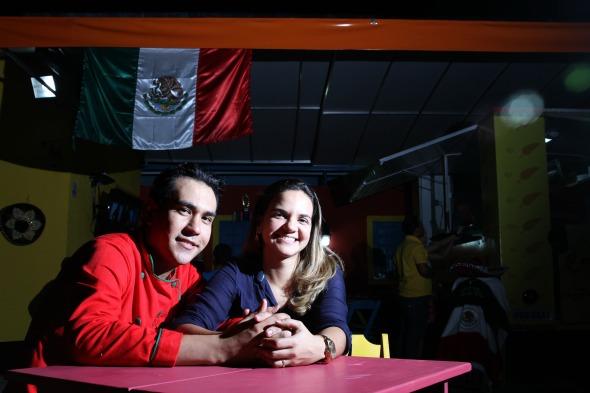 O chef Fernando Escalante e sua esposa Paloma Escalante - Crédito: Bruna Monteiro DP/D.A Press