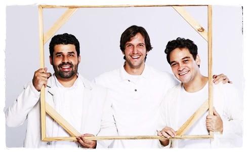 Marcelo Flores, Vladimir Brichta e Claudio Gabriel Crédito: Arte/Divulgação