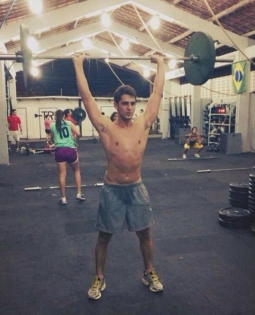 Leonardo Guerrera no treino de Crossfit - Crédito: Reprodução do Instagram