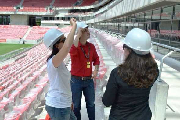 Alex Rocha, da Exclusiva, recebe convidados, hoje, em camarote na Arena Pernambuco - Crédito: Arquivo pessoal
