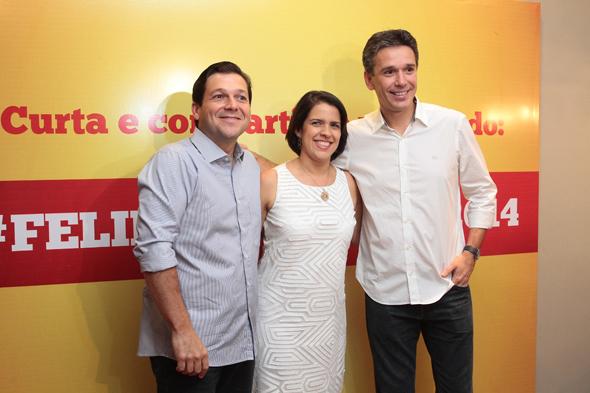 Geraldo Julio, Cristina Mello e Felipe Carreras - Crédito: Nando Chiappetta/DP/D.A Press