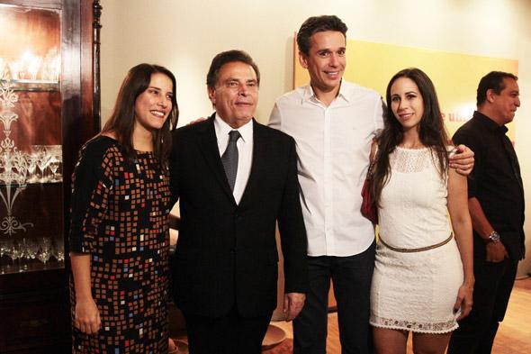 Raquel Lyra, João Lyra Neto, Felipe Carreras e Fabiana - Crédito: Nando Chiappetta/DP/D.A Press