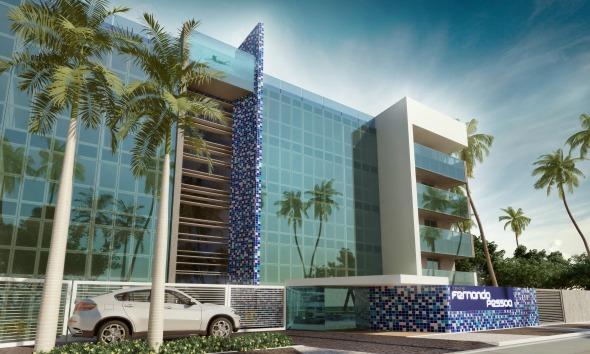 Projeção do edifício que será construído no local da Casa Cor Pernambuco  - Crédito: Divulgação