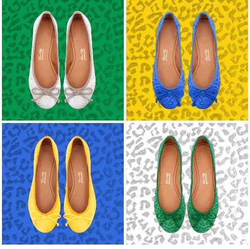 Sapatilhas com as cores do Brasil da coleção Brasil Collection da Santa Lolla - Crédito: Santa Lolla/Divulgação