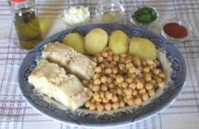 bacalhau com grão, o prato principal da casa