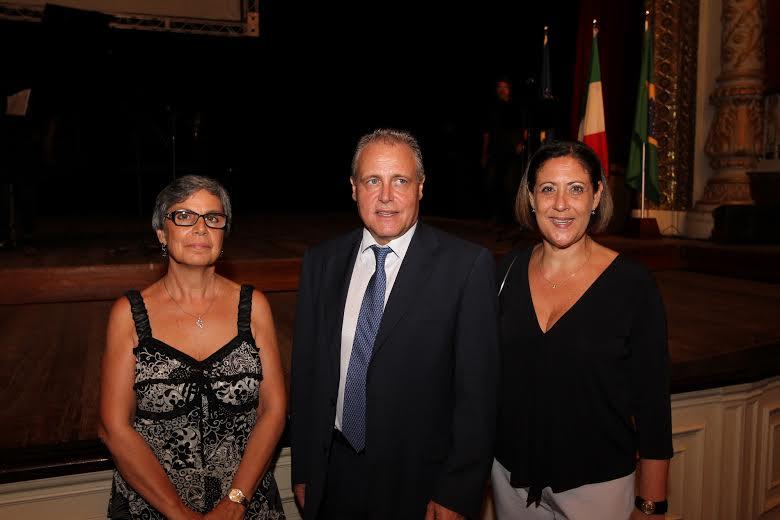 Annamaria Caldaretti, Angelo Biccire e Francesca Matarazzo Crédito: Edvaldo Rodrigues/D.A/D.Press