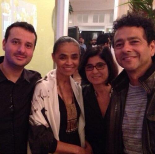 Bruno Brennand, Marina Silva e Marcos Palmeira Crédito: Instagram