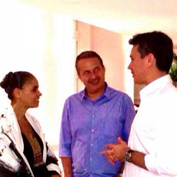 Marina Silva, Eduardo Campos e Felipe Carreras Crédito: Instagram