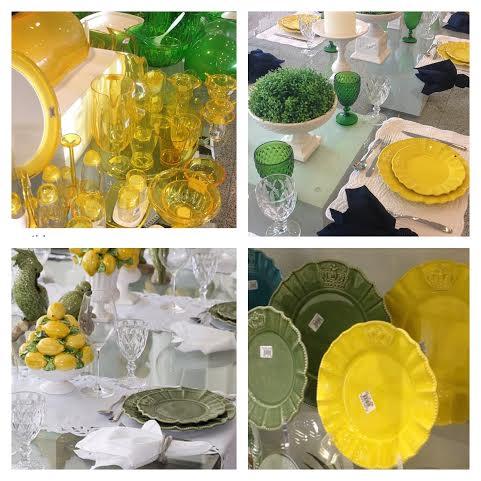 Toques verde e amarelo para colorir a decoração - Fotos: Prima Casa/Instagram