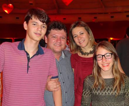 João Luiz, Sileno, Maria Eduarda e Ana Clara Guedes - Foto: Fernando Machado