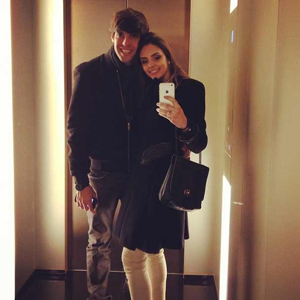 Kaká e Caroline Celico Crédito: Instagram