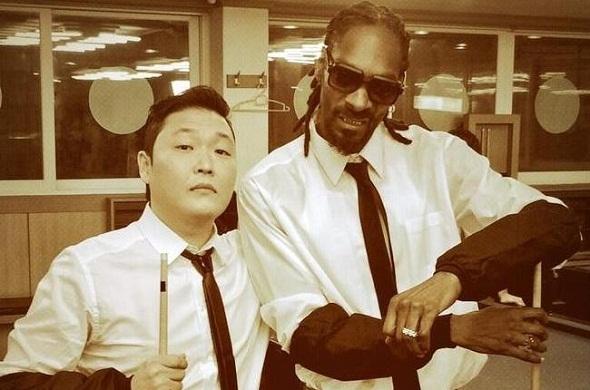 Psy e Snoop Dog - Crédito: Reprodução Twitter
