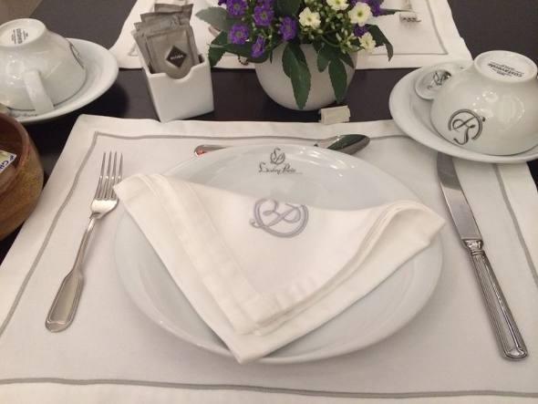 A mesa do café da manhã