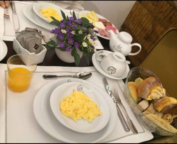 O completo café da manhã