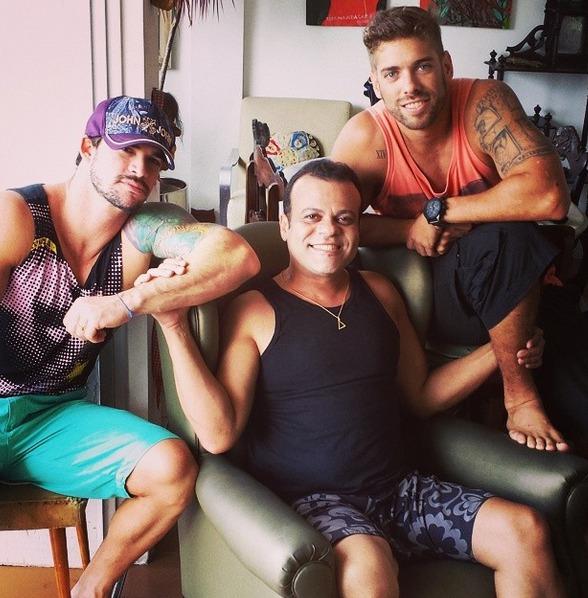 Rodrigo Carvalho, Daniel Rolim e Mau mau Crédito: Instagram