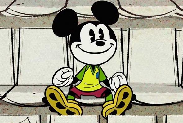 Mickey de torcedor brasileiro - Crédito: Disney/Divulgação