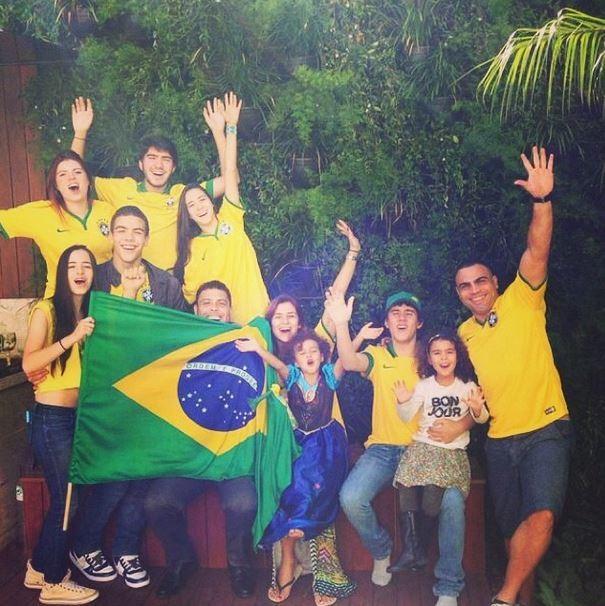 Ronaldo com a família Crédito: Instagram