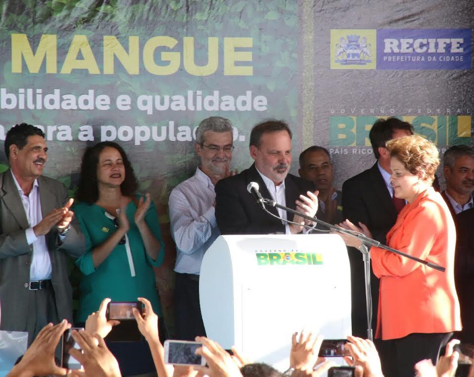 Armando Monteiro e Dilma Crédito:  Alexandre Albuquerque/Divulgação