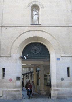 A entrada do santuário