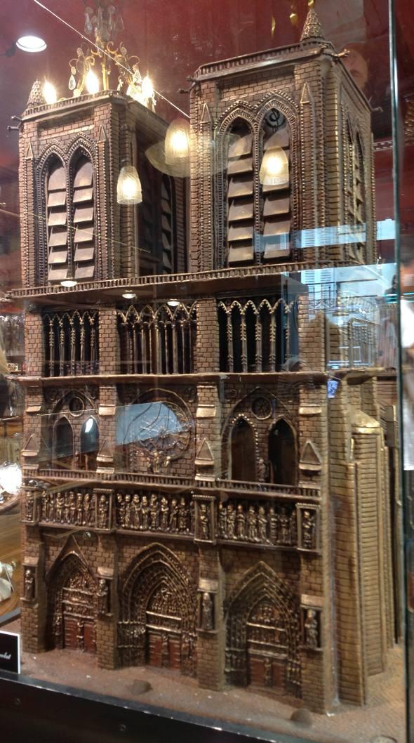 Outro detalhe da Notre Dame de chocolate