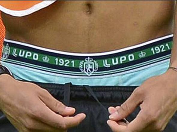 Cueca de Neymar em treino da seleção brasileira/Divulgação