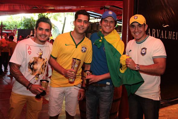 Helton Correia, Eduardo Monteiro, Guido da Fonte e Leonardo Cavalcanti - Crédito: Nando Chiappetta/DP/D.A Press