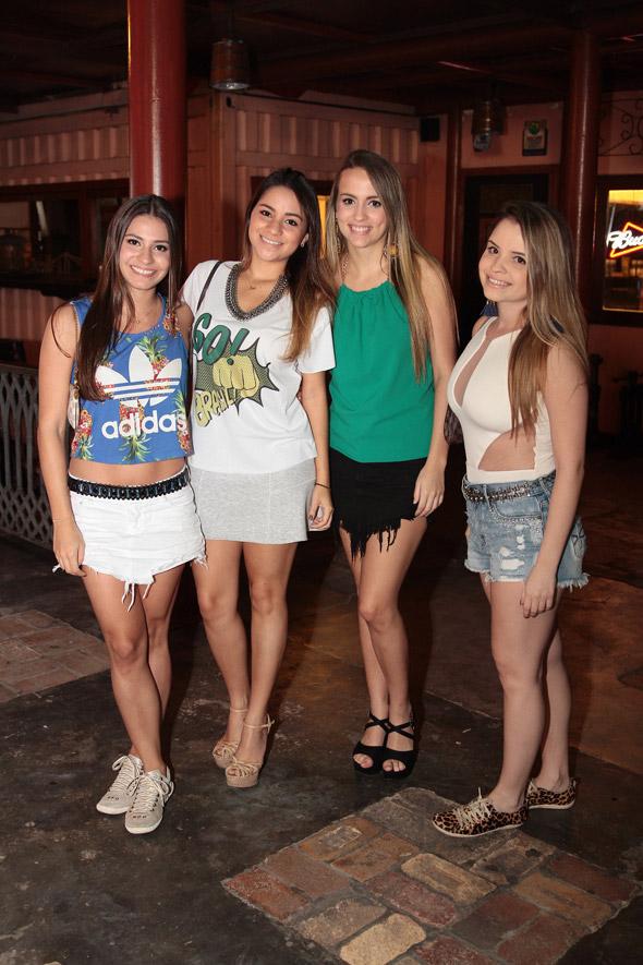 Fernanda Prosini, Ludmila Tavares, Luisa Diniz e Bianca Ferraz - Crédito: Nando Chiappetta/DP/D.A Press
