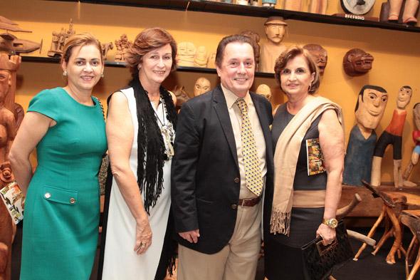 Gláucia Machado, Bessy Veiga, Carlos Augusto Lira e Fátima Patury - Crédito: Nando Chiappetta/DP/D.A Press