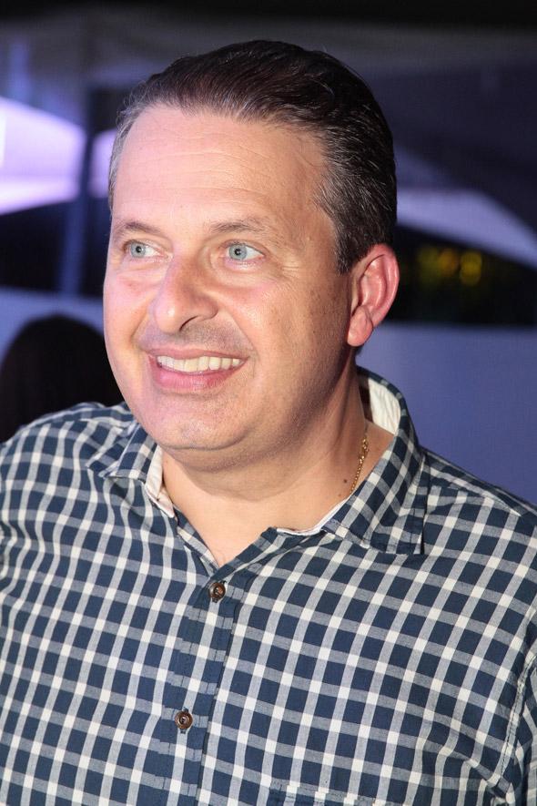 Eduardo Campos na chegada a Caruaru - Crédito: Nando Chiappetta/DP/D.A Press