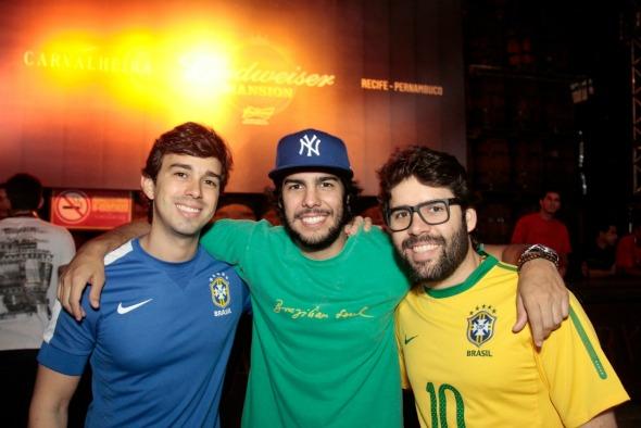Rafael Lobo, José Pinteiro e Kiko Lumack - Crédito: Gleyson Ramos/Divulgação