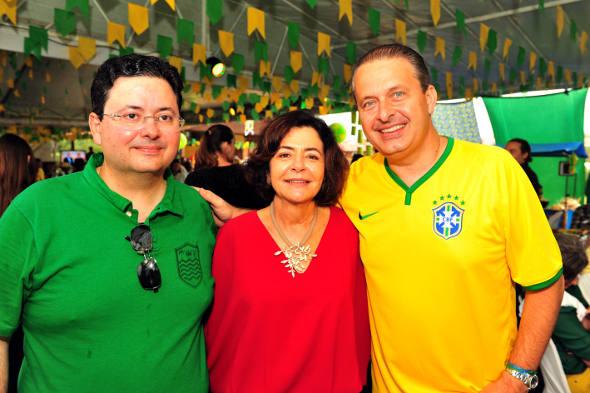 Antonio Campos, Ana Arraes e Eduardo Campos