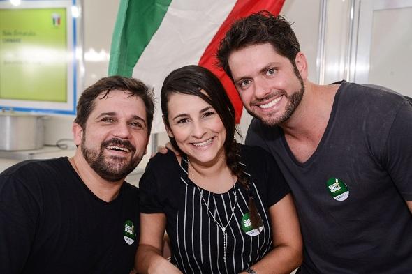 Biba Fernandes, Miau Caldas e André Falcão - Crédito: Ytallo Barreto/Divulgação
