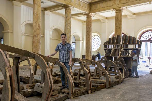 O sergipano José Rufino e sua instalação