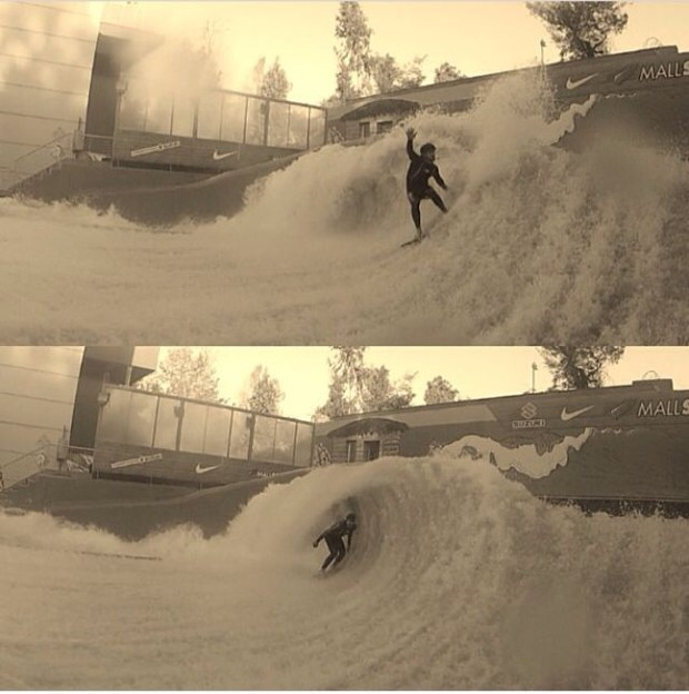 Caio Castro praticando wave house (Foto: Arquivo pessoal)