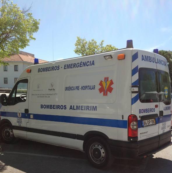 Ambulâncias de várias cidades para atendimento em Fátima