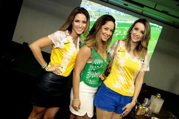 Isabelle Leite, Renata Barroca e Bruna Monteiro - Crédito: Gleyson Ramos/Divulgação