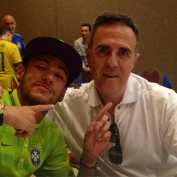 Neymar e Wagner Ribeiro - Crédito: Reprodução Instagram