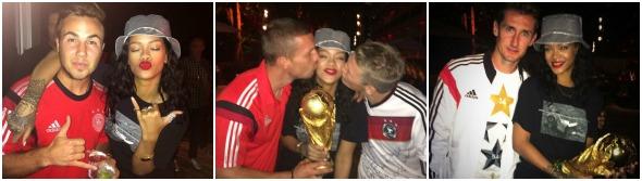 Rihanna tietou os jogadores da Alemanha - Crédito: Reprodução Twitter