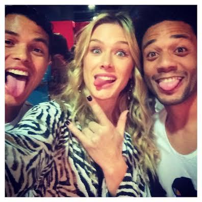 Thiago Silva, Fiorella Mattheis e Marcelo Vieira - Foto: Instagram/Reprodução
