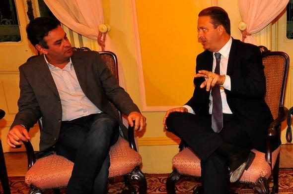 Aécio Neves e Eduardo Campos  - Crédito: Ricardo Fernandes/DP/D.A Press