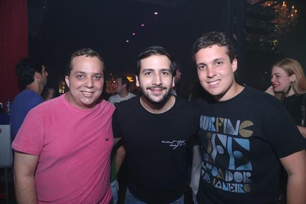Rodrigo Jatobá, Cacá Valle e Rodrigo Rêgo - Crédito: Humberto Reis/Divulgação