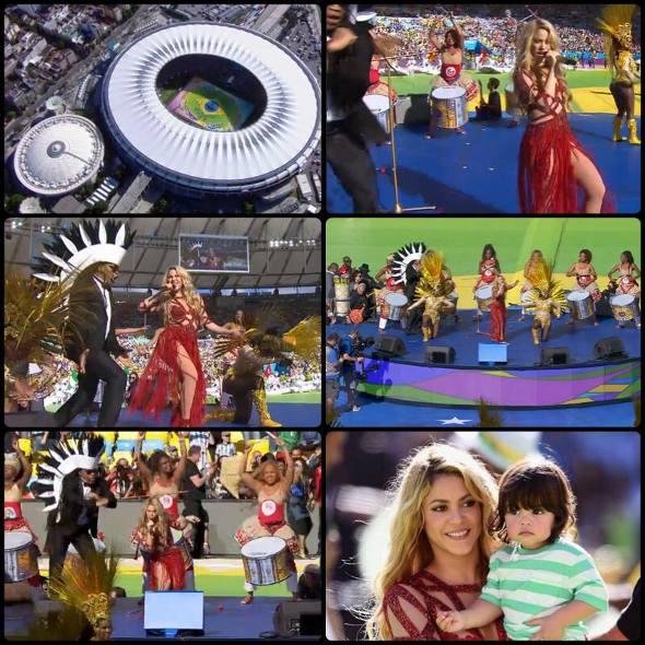 Cantora foi uma das atrações do encerramento da Copa do Mundo no Brasil. Crédito: Reprodução fanpage Shakira.