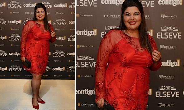 Fabiana Karla usou vestido da estilista Valéria Costa -  Foto: George Magaraia/Divulgação
