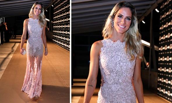 Giovanna Ewbank de vestido e bolsa Patricia Bonaldi e joias Lydia Dana -   Foto: George Magaraia/Divulgação