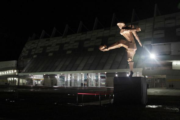Obra de Abelardo da Hora na Arena Pernambuco. Crédito: Nando Chiappetta/DP/D.A Press