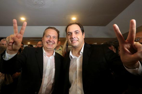 Eduardo Campos e Paulo Câmara - Crédito: Teresa Maia/DP/D.A.Press