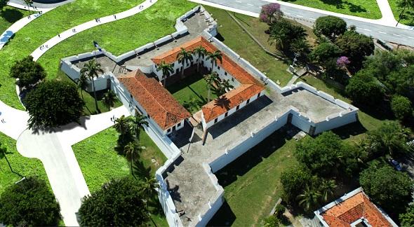 O Forte das Cinco Pontas abriga o Museu da Cidade do Recife Crédito: Divulgação