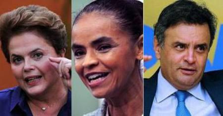 Dila, Marina e Aécio/Divulgação